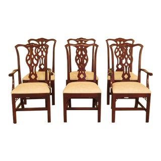 Ethan Allen Knob Creek Chippendale Cherry Dining Room Chairs - Set of 6 For Sale