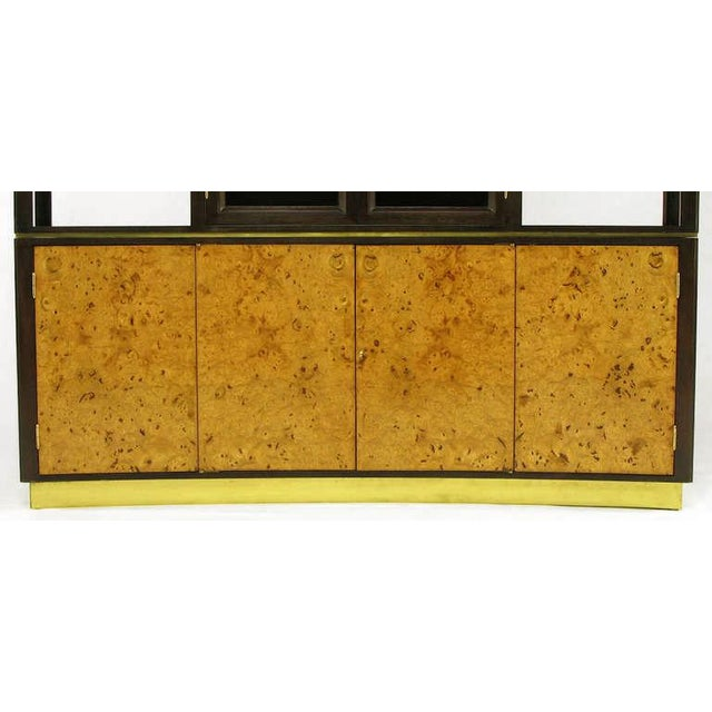 1950s Edward Wormley Walnut & Olive Ash Burl Tall Cabinet For Dunbar For Sale - Image 5 of 11