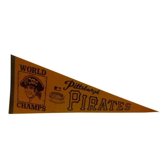 Vintage World Champs Team Pennant Circa 1970 For Sale