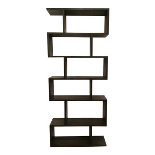Arteriors Modern Horner Sable Brown Finished Wood Bookshelf For Sale