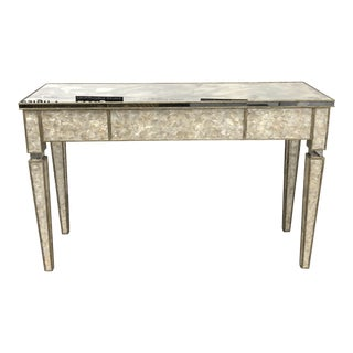 Cantury Furniture Mirror + Capiz Shell Console Table For Sale