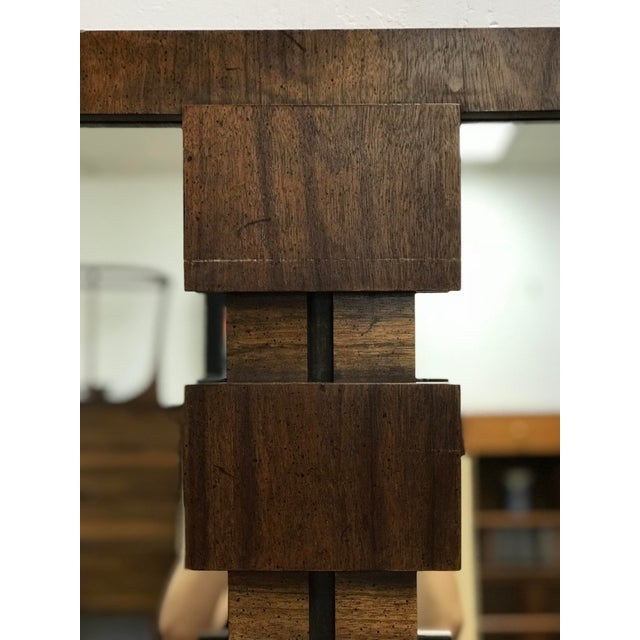 Mid-Century Modern Brutalist Hanging Mirror For Sale - Image 9 of 10