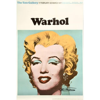 Andy Warhol 'Marilyn (Tate Gallery)' 1971 Hand Signed Original Pop Art Poster For Sale