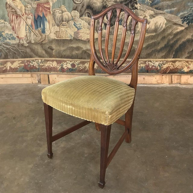 Set of 12 Antique English Sheraton Dining Chairs Includes Four Armchairs For Sale - Image 9 of 13