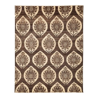 "Patterned Gabbeh Hand Knotted Area Rug - 7'10"" X 10' For Sale"