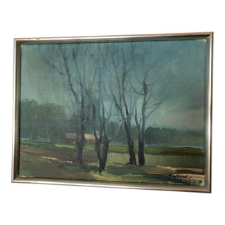 1960s Vintage Swedish Mid-Century Modern Painting For Sale
