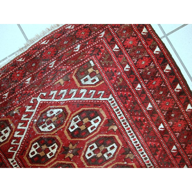 1920s Antique Afghan Adraskand Hand Made Prayer Rug - 2'7'' X 3'7'' For Sale - Image 5 of 10