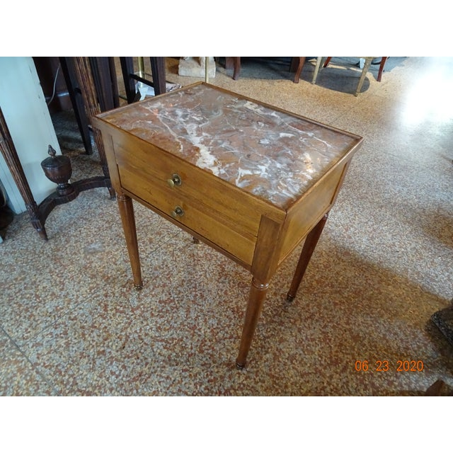 French Marble Side Table For Sale - Image 11 of 13