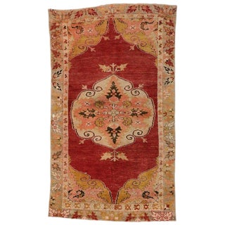 Vintage Mid-Century Turkish Oushak Rug - 3′ × 5′1″ For Sale