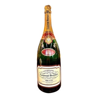 Late 20th Century French Laurent-Perrier Champagne Specimen Bottle For Sale