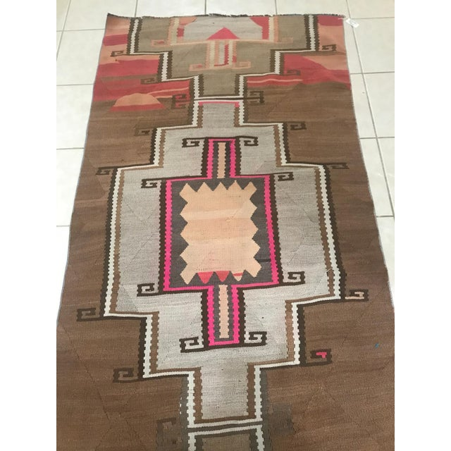 1970s Turkish Vintage Kars Antique Kilim Rug Runner-3'4x10 For Sale - Image 5 of 6