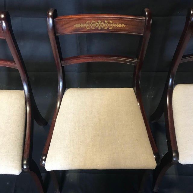 Early 19th Century Regency Dining Chairs- Set of 4 For Sale - Image 4 of 13