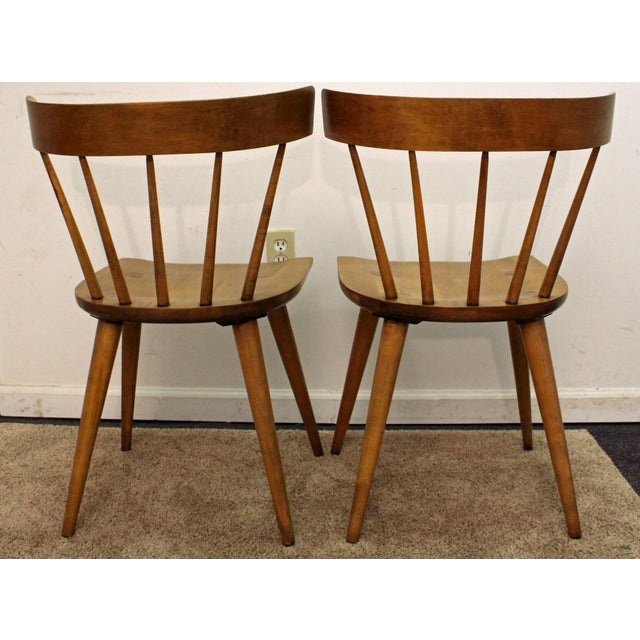 Danish Modern Mid-Century Danish Modern Paul McCobb Spindle Back Side Dining Chairs - a Pair For Sale - Image 3 of 11