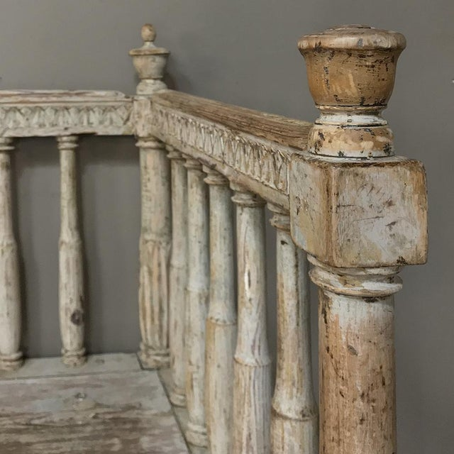18th Century Swedish Gustavian Period Day Bed ~ Hall Bench Ca. 1790 For Sale - Image 11 of 13
