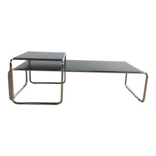 Bauhaus Marcel Breuer for Knoll Metal and Laminate Coffee Table