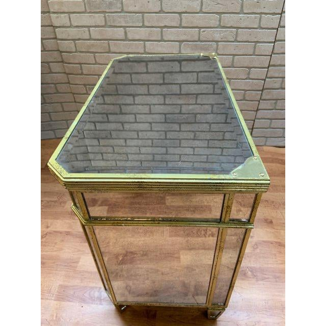 Hollywood Regency Style Butler Specialty Company Mirrored Console Cabinet For Sale - Image 10 of 13