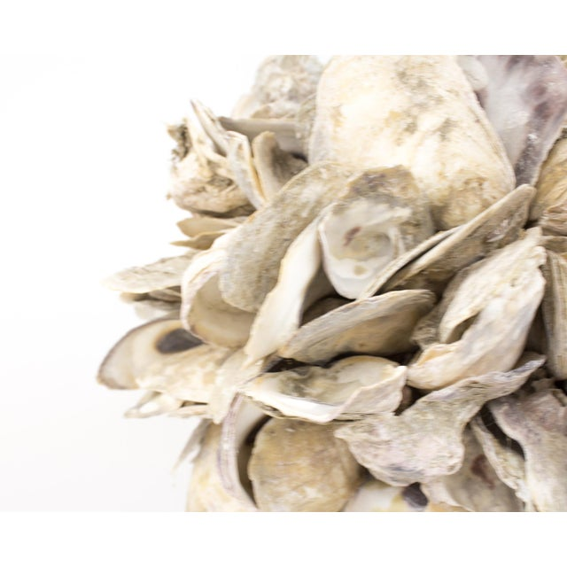 1970s Large Natural Oyster Shell Sphere Sculpture For Sale - Image 5 of 10