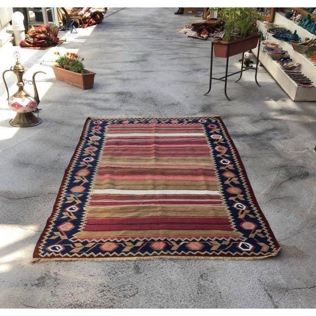 Vintage Turkish Anatolian Kilim Wool Rug - 3′11″ × 6′5″ For Sale - Image 5 of 5
