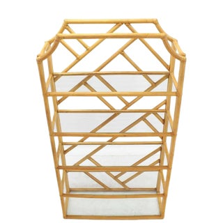 Large Rattan Shelf For Sale