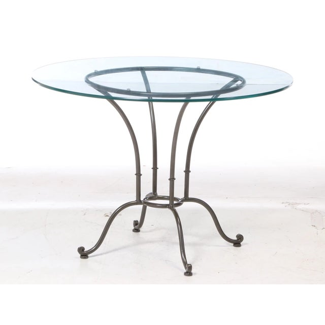 Modern Vintage Chromcraft Wrought Metal and Glass Dining Set - 5 Pieces For Sale - Image 3 of 5
