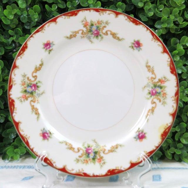 """Mismatched Vintage 8"""" Dessert Plates - Set of 4 - Image 4 of 7"""