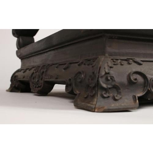 Black Antique Chinese Zitan Side Table For Sale - Image 8 of 11