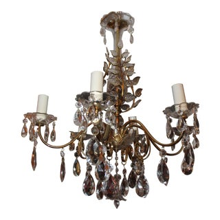 Hollywood Regency Period Maison Bagues Cut Crystal Chandelier For Sale