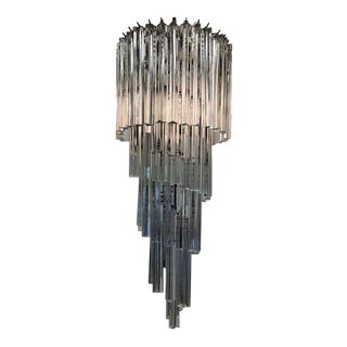 1970s Vintage Mid-Century Venini and Camer 5-Spiral Chandelier For Sale