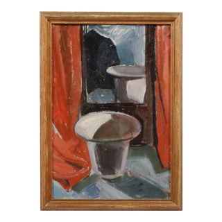 Expressionist Still Life with Bowl and Mirror