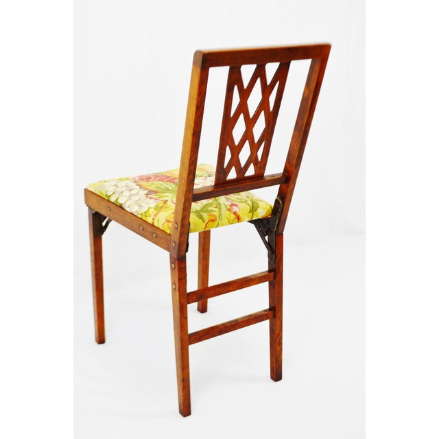 Brown Vintage Leg O Matic Folding Chair For Sale - Image 8 of 11