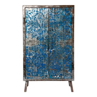 20th Century Asian Metal Recycled Oil Drum Armoire For Sale