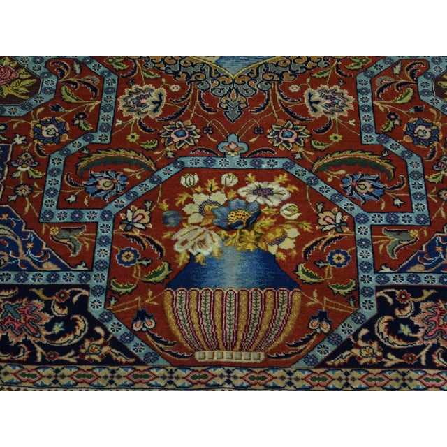 Antique Persian Tabriz Pictorial Rug- 4′7″ × 5′4″ For Sale - Image 10 of 13