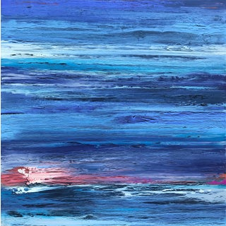 Contemporary Coastal Abstract Painting For Sale