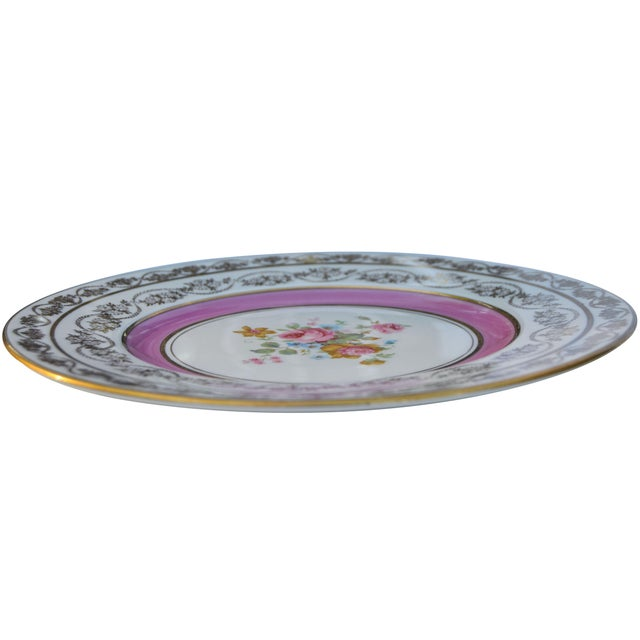 Vintage Colorful Porcelain Plates- S/5 For Sale In New York - Image 6 of 8