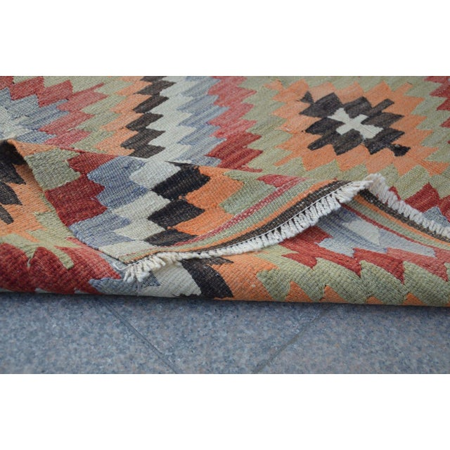 Vintage Turkish Kilim Rug - 5′4″ × 10′7″ - Image 5 of 6