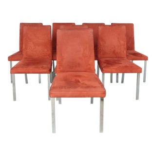 Set of Eight Midcentury Chrome Dining Chairs by Tri-Mark Designs of Philadelphia