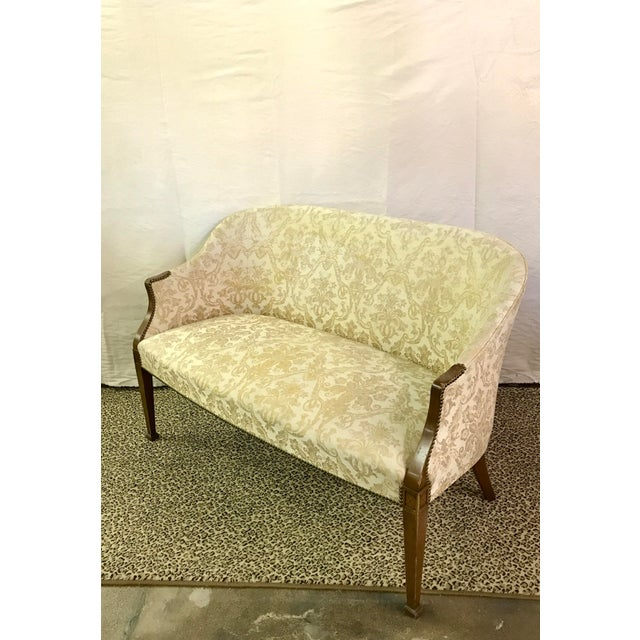 Vintage Neoclassical Settee With Nailhead Detail - Image 2 of 11