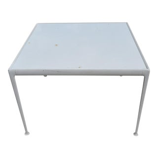 Richard Schultz for Knoll Aluminum and Iron Square Dining Table For Sale