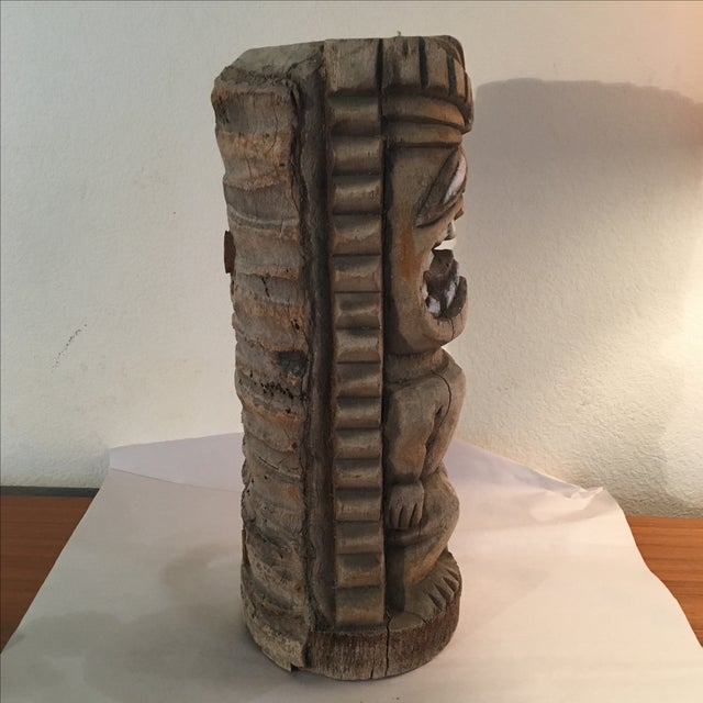 Vintage Hand Carved Outdoor Tiki Sculpture - Image 4 of 7