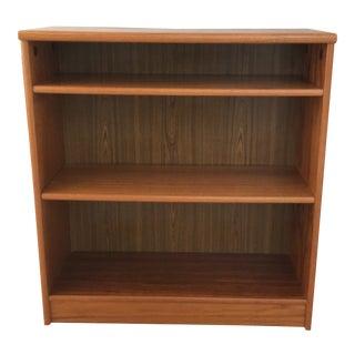 Danish Mid Century Teak Bookcase For Sale