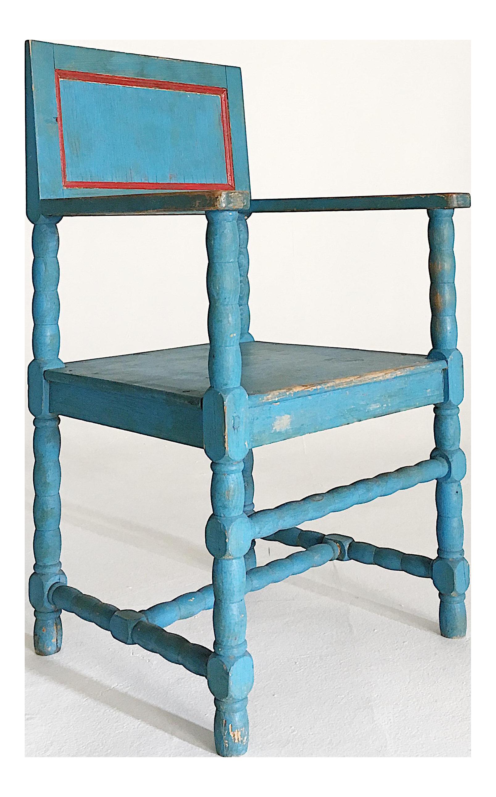 19th Century Swedish Folk Art Dala Chair