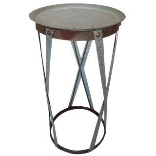 Industrial Round Zinc Garden Pedestal