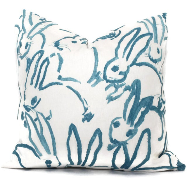 Not Yet Made - Made To Order Aqua Bunny Pillow Cover in Hutch by Lee Jofa For Sale - Image 5 of 5