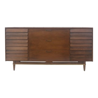 Mid Century Modern Lowboy Dresser by American of Martinsville For Sale