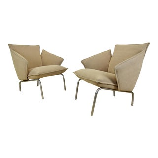 "Modern Vico Magistretti for Fritz Hansen ""Vicolounge"" Chairs- A Pair For Sale"