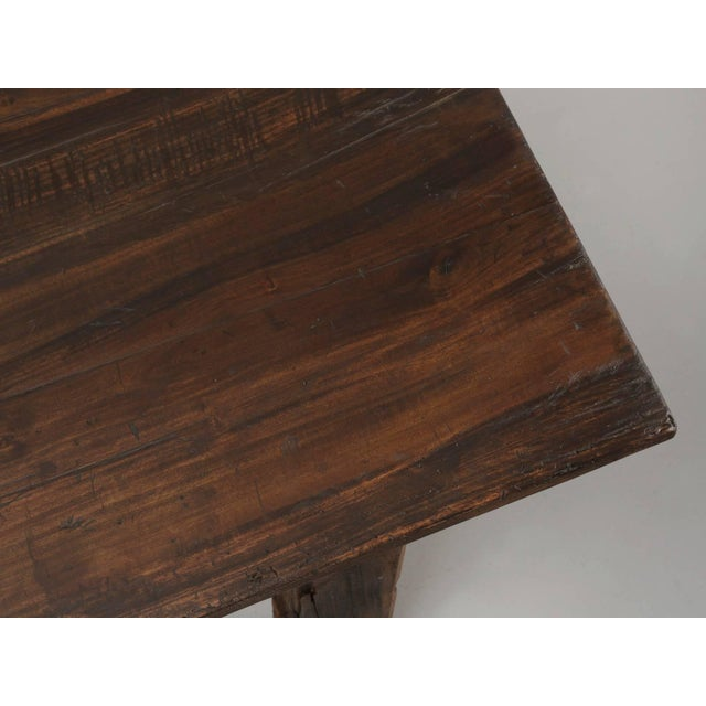 1900 - 1909 Antique French Industrial Work Table or Rustic Farm Dining Table, Circa 1900 For Sale - Image 5 of 10