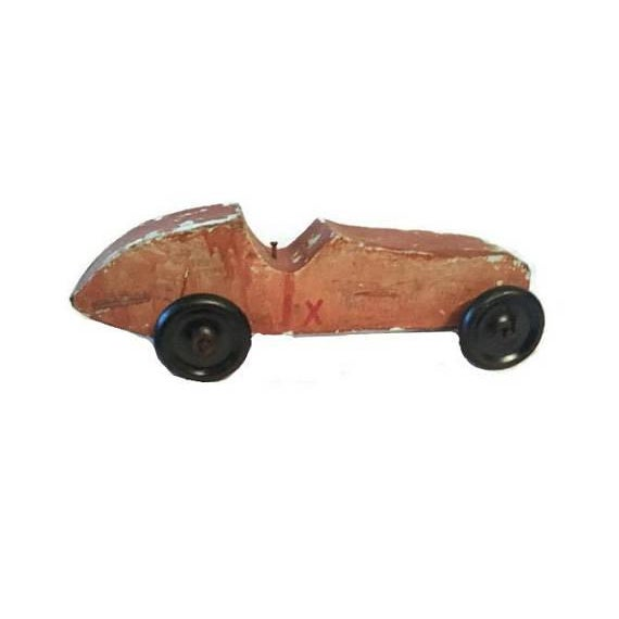 Handmade Race Car Pull Toy - Image 4 of 8