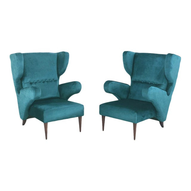 Pair of 50s Armchairs Attributed to Melchiorre Bega For Sale
