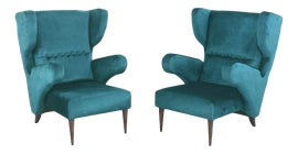 Image of Turquoise Club Chairs