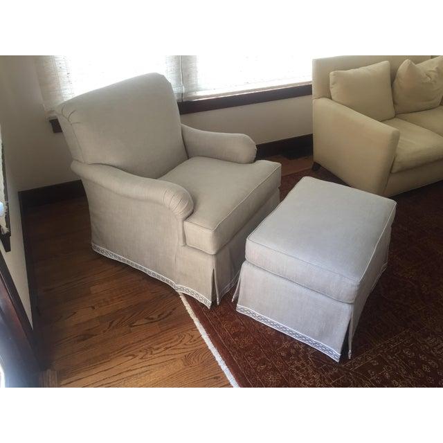Classic Patricia Edwards Custom Chair & Ottoman Set - Image 2 of 8